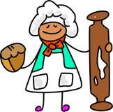 dzieciak baker royalty ilustracja