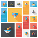 Dzieciak bawi się płaskiego ui tło, eps10 Obrazy Royalty Free