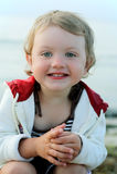 dzieciak blisko morza Obrazy Stock