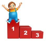Dzieciak chłopiec z 123 poziomem Zdjęcie Stock