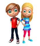Dzieciak dziewczyna i dzieciak chłopiec Obrazy Royalty Free