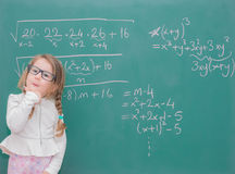 Dzieciak dziewczyny nauczyciel Zdjęcie Stock