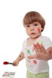 dzieciak farbę. Zdjęcie Stock