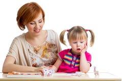 Dzieciak i matka rozrywkę wpólnie zdjęcia stock