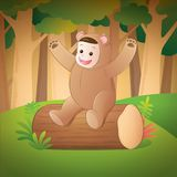 Dzieciak jest ubranym niedźwiadkowego kostium obraz royalty free