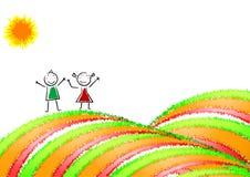dzieciak karciana szczęśliwa poczta Fotografia Royalty Free