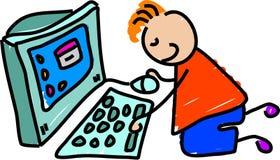 dzieciak komputerowy ilustracji