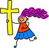 dzieciak krzyż royalty ilustracja