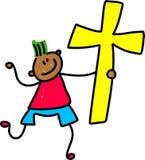 dzieciak krzyż Zdjęcia Stock