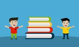 Dzieciak miłość czytać książki Fotografia Stock