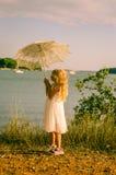 Dzieciak morzem Zdjęcia Royalty Free