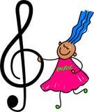 dzieciak muzyki Zdjęcia Royalty Free