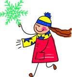 dzieciak płatek śniegu Zdjęcie Royalty Free