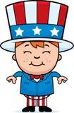 dzieciak patriotyczny Zdjęcia Royalty Free