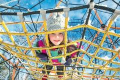 Dzieciak przy boiskiem Zdjęcia Royalty Free