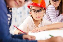 Dzieciak przyszłości inżyniery Zdjęcia Royalty Free