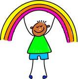 dzieciak rainbow royalty ilustracja