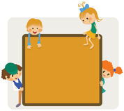 Dzieciak ramy zawiadomienie ilustracja wektor