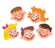 Dzieciak szczęśliwe twarze royalty ilustracja
