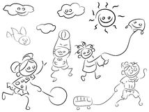 Dzieciak sztuka ilustracja wektor