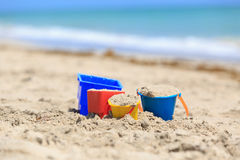 Dzieciak sztuka na plażowym pojęciu zdjęcia royalty free