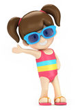 Dzieciak w pływanie odzieży Fotografia Royalty Free