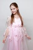 Dzieciak w princess sukni obraz royalty free