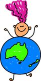 dzieciak z australii royalty ilustracja