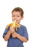 dzieciak z bananami Obrazy Royalty Free
