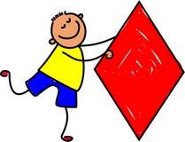 dzieciak z diamentem Zdjęcia Royalty Free