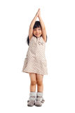Dzieciak z rękami up zdjęcia stock