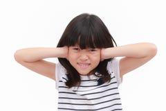 Dzieciak z stresującym emocjonalnym uczuciem Zdjęcie Stock
