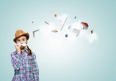 Dzieciak z wąsy Obrazy Royalty Free