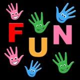 Dzieciak zabawa Wskazuje Radosny Radosny I Szczęśliwego Zdjęcia Stock