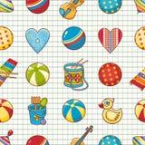 dzieciak zabawka deseniowa bezszwowa Projektuje element dla pocztówki, sztandar, ulotka Obraz Royalty Free