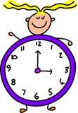 dzieciak zegara royalty ilustracja