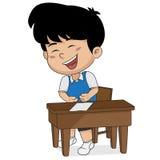 Dzieciaka śmiać się Wektor i ilustracja ilustracja wektor
