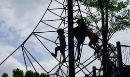 Dzieciaka advanture na wspinaczkowej ładunek arkany sieci Obraz Royalty Free