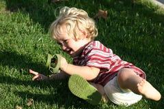 dzieciaka bębnowanie Zdjęcia Stock
