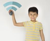 Dzieciaka dziecka Wifi ikony Papercraft mienie Fotografia Royalty Free