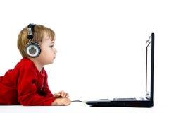 dzieciaka laptop Zdjęcie Stock