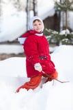 dzieciaka śnieg Obraz Royalty Free