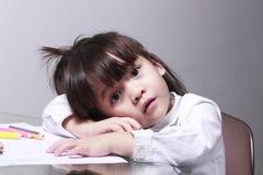 Dzieciaka nudziarstwo uczyć się Obrazy Stock