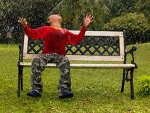 dzieciaka park bawić się deszcz Zdjęcie Royalty Free