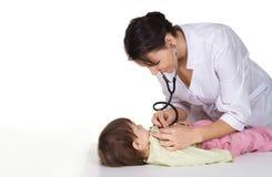 dzieciaka pielęgniarki pracy Obraz Royalty Free