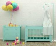 Dzieciaka pokoju łóżkowej mennicy 3d renderingu wewnętrzny wizerunek Obraz Royalty Free
