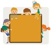 dzieciaka ramowy zawiadomienie ilustracji