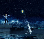 Dzieciaka rybak Obraz Royalty Free