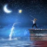 Dzieciaka rybak Obrazy Royalty Free