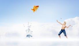 Dzieciaka rybak Fotografia Stock